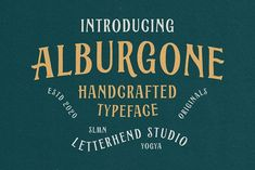 Alburgone - Display Typeface by Letterhend Studio on @creativemarket