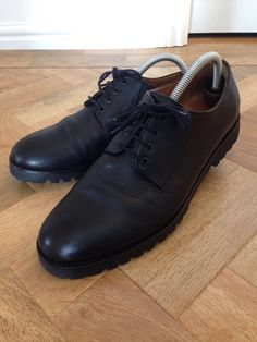 COS BLACK LEATHER DERBY SHOES COMMANDO SOLE in Kleidung & Accessoires, Herrenschuhe, Halbschuhe | eBay 23€