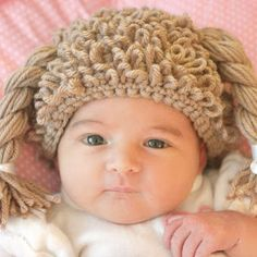 Free crochet cabbage patch kid hat pattern