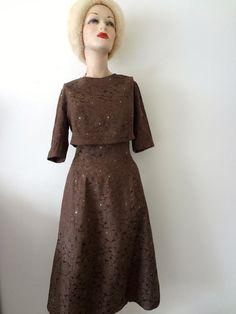 1950s Party Dress w/Bolero Jacket by NESTdesignstudio