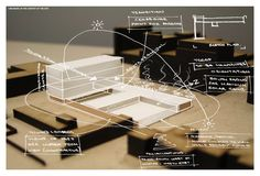 """architecture-apprentice: """" Initial concept model set within the site model with site analysis and the designs response overlaid in white. Method: 1. Photograph your model and print the chosen..."""