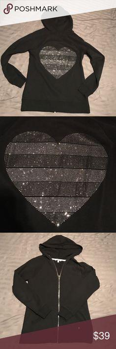 BS Victoria's Secret Hoodie S black Black VS Angel hoodie .Worn couple of times.Great condition Victoria's Secret Tops Sweatshirts & Hoodies