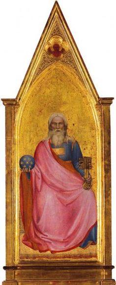 Giovanni da Milano - Cristo in Apocalisse - c. 1365 - tempera e oro su tavola -  National Gallery, London