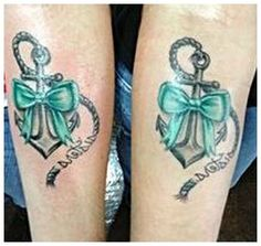 AJ Mccarron Tattoos Meaning: Sister Anchor Tattoos With Bow ~ tattoosgallerys.com Tattoo designs Inspiration