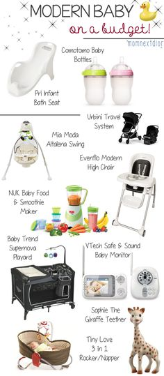 Modern Baby On A Budget! Perfect List!! All Affordable! Love it!
