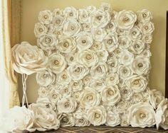 decoración con flores gigantes de papel20