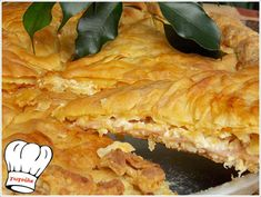 Greek Pastries, Filo Pastry, Spanakopita, Greek Recipes, Food Processor Recipes, Bacon, Recipies, Food And Drink, Appetizers