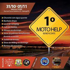 1º Moto Help Beneficente, dia 31/10/2015 às 15:30.