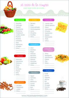 Basic work list for purchases Herbalife Tips, Diet Recipes, Healthy Recipes, Agenda Planner, Day Planners, Home Hacks, Holidays And Events, Clean House, Cleaning Hacks