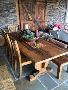 The Schwarzwald - Bavarian Style Reclaimed Oak Tavern Trestle Table Trestle Dining Tables, Oak Table, Rustic Table, Farmhouse Table, Wood Tavern, Tavern And Table, Alpine Furniture, Wood Furniture, Wood Table Design