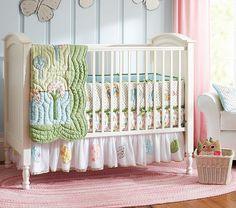 quarto de bebe pottery barn azul e rosa