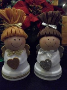Clay Pot Christmas Angels by RaysClayPotCreations on Etsy, $17.00