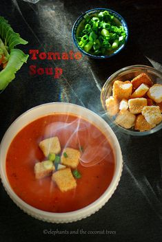 When u hold a piping hot bowl of Tomato Soup in ur hands. it says instant comfort esp in winter. (No fuss home style tomato soup) Easy Soup Recipes, Casserole Recipes, Lunch Recipes, Cooking Recipes, Healthy Recipes, Indian Food Recipes, Ethnic Recipes, Indian Breakfast, Tomato Soup