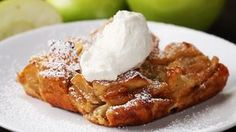 Here is what you'll need!Apple Cinnamon French Toast BakeServings: 4-6INGREDIENTS12 ounces French bread, a day old2 Granny Smith apples, peeled1 cup brown sugar2 teaspoons cornstarch6 eggs 2 cups milk1 teaspoon vanilla1 teaspoon cinnamon¼ cup maple syrupPowdered sugar, to tasteWhipped cream, to tastePREPARATION 1. Preheat the oven to 350˚F/180˚C.2. Cut the bread into 1-inch cubes and dice peeled apples into small bite-size pieces.3. In a medium bowl, mix together the bread, apples, sugar…