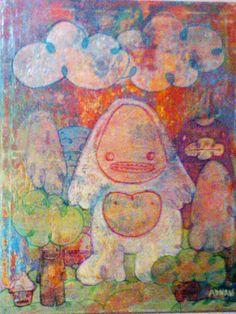 """""""En busqueda de pie grande""""  Pintura Técnicas mixtas Arte  Galva  Adnan Galva"""