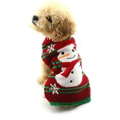 Christmas Dog Clothes AMATM Pet Puppy Doggie Snowman Winter Knitted Warm Sweater Jacket Coat Hoodie Dog Costume Apparel XL Red -- You can get additional details at the image link.Note:It is affiliate link to Amazon.