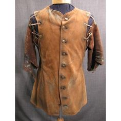 Costumes/Medieval/Men's Wear/Medieval Doublets/09014667 Doublet Medieval Distressed, brown leather, C38 found on Polyvore