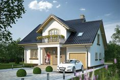 Projekt domu APS 261 126,2 m2 - koszt budowy - EXTRADOM Style At Home, Modern Bungalow House, Home Fashion, Lunges, Planer, House Plans, Sweet Home, Villa, Exterior