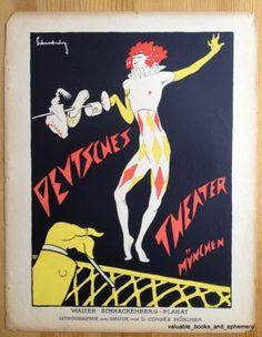 1920s German Advertising Poster DEUTSCHE THEATER PLAKAT Art Avant Garde MUNICH