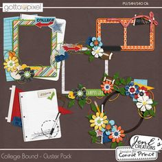College Bound - Cluster Pack :: Gotta Pixel Digital Scrapbook Store From Designs by Connie Prince