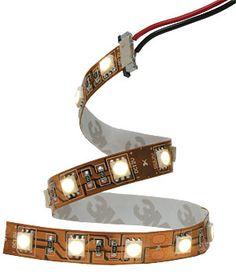 flexible LED strip lights for undercabinet lighting!