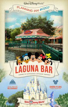 Walt Disney World Planning Pins: Laguna Bar