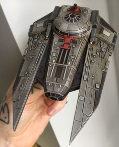 @woodfordtattoo has been keeping busy with an Imperial Decimator repaint. Beauty. #xwing #xwingminatures #decimator