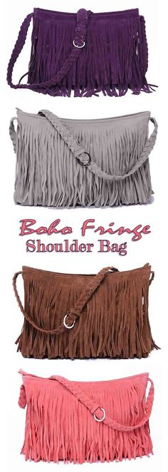 ≫∙∙ Boho Fringe Shoulder Bag ∙∙≪