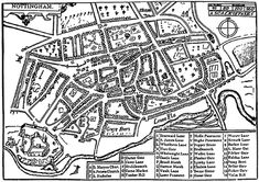 Archaeology and History of Medieval Sherwood Forest: Medieval Nottingham History Articles, Local History, Family History, History Photos, Nottingham Map, Wales, Sherwood Forest, England, Old Street