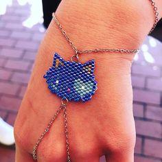 kedi şahmeran#bozcaada #mervecerit #miyuki #handmade