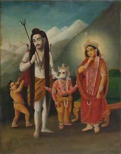 magictransistor: Kali, Shiva, Pavarti, Skanda and Ganesh, Shiva. Shiva Art, Krishna Art, Hindu Art, Ganesha Art, Lord Ganesha, Shiva Linga, Shiva Shakti, Kali Shiva, Kali Ma