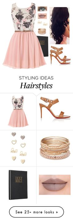 """""""Going to church-hope your there too"""" by jsigmon03 on Polyvore featuring Christian Louboutin, Perfection Beauty, Red Camel, Brinley Co, Lipsy and Jeffree Star"""