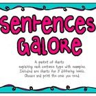 This is a set of charts defining the 3 sentence types - simple, compound and complex. I have incorporated 3 different levels of charts which vary t...