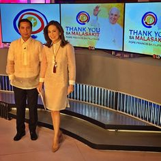 Now on DAY 4 of the coverage! 👍 Please join me and Henry Omaga Diaz as we anchor from the studio & help contextualize today's visit to UST and Mass at the Quirino Grandstand! We start at Modern Filipiniana Dress, Filipiniana Wedding, Miss Philippines, Philippines Fashion, Barong Tagalog For Women, Filipino Culture, Grad Dresses, Entourage, Business Attire