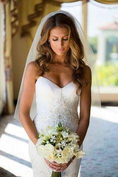 40 wedding hair down with veil ideas 1
