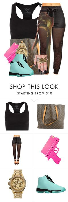 """""""✨"""" by trillest-queen ❤ liked on Polyvore featuring Hummel, Louis Vuitton, Nixon and Joyrich"""