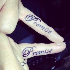 Pinky Swear. Promise. Hand Tattoo. Love Tattoos. With your Partner in Crime! #tattoo #love #finger