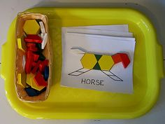 farm animal pattern cards from prekinders