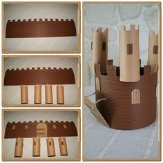 Couronne n°5 : le château du roi Lenny - Les p'tites décos de Lolo Toilet Roll Craft, Toilet Paper Roll Crafts, Diy For Kids, Crafts For Kids, Arts And Crafts, Chateau Moyen Age, Castle Crafts, Princess Crafts, Medieval Crafts