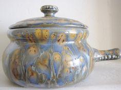 Lidded Ceramic Bean Pot Studio Pot Peas In A Pod Tureen Earthy