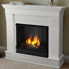 Real Flame Chateau White in. H Gel Fuel Fireplace (Chateau Gel Fireplace by Real Flame-White) (Metal) Gel Fireplace, White Fireplace, Farmhouse Fireplace, Fireplace Inserts, Fireplace Mantels, Fireplace Heater, Fireplace Outdoor, Fireplace Ideas, Fireplace Pictures