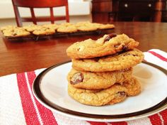 Chocolate Chip Walnut Cookies, made with Speculoos Cookie Butter
