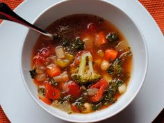 Rustic Vegetable Soup | FaveGlutenFreeRecipes.com