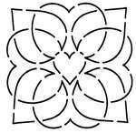 Quilt Stencil Dancing Hearts By Walner, Hari