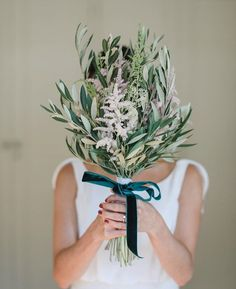 If you are a one-of-a-kind bride, and would love to walk down the aisle with a more unique wedding bouquet, check out these greenery bouquet. Winter Bouquet, Fall Bouquets, Fall Wedding Bouquets, Bridesmaid Flowers, Bride Bouquets, Wedding Flowers, Wedding Flower Design, Wedding Colors, Autumn Bride