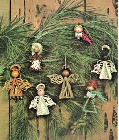 Tree ornaments macrame pattern Vintage by GrannyIcaBoutique