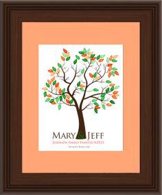 THUMBPRINT TREE, wedding tree guest book, fingerprint guest tree, Thumbprint Stamp Tree guest book, Love Birds, Wedding Poster 13x19 num.112