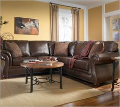 weathered leather sectional - Google Search | For the Home | Pinterest | More Leather sectional Leather sectionals and Sectional sofa ideas : broyhill laramie sectional - Sectionals, Sofas & Couches
