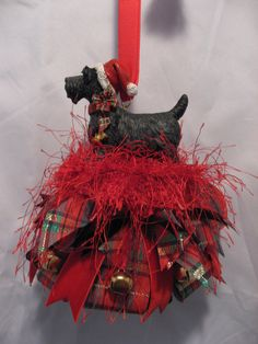 Adorable Scottie dog tassel
