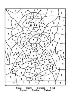 Color By Number Coloring Pages For Kids   copy picture -paste to word document-print